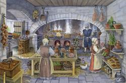 Craignethan Castle,  Kitchen Recon'  LR