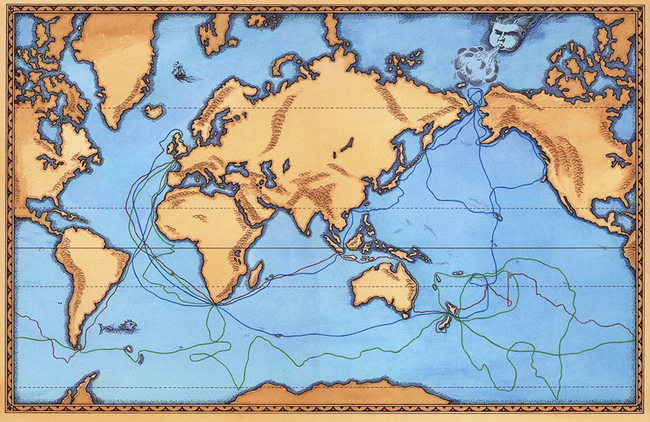 Captain Cook Journey Map