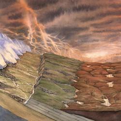 Ice age sedimentary layers NYMNP