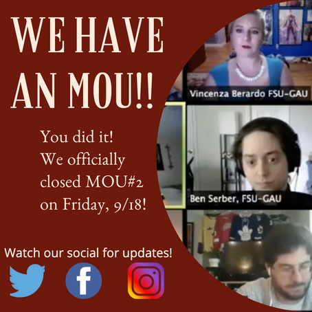 MOU #2 IS CLOSED!