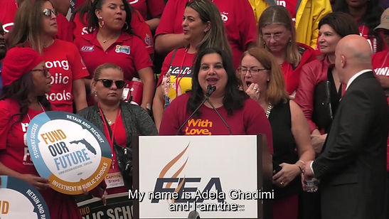 FSU-GAU President speaks at FEA Rally