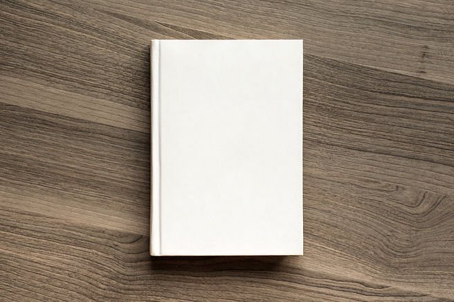 Photo blank book cover on textured wood