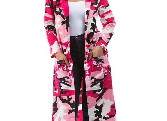 Pink Army Fatigue Jacket