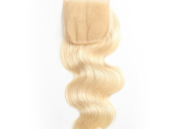 Luxury Lace 4x4 Closure Russian Blonde #613 Body wave