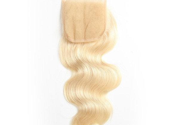 Luxury Lace 4x4 Closure Russian Blonde #613 Body wave (wholesale)