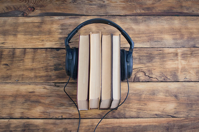Headphones on the Pile of Books on the W