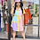 Thumbnail: Color Block Short Sleeve Shirt Dress