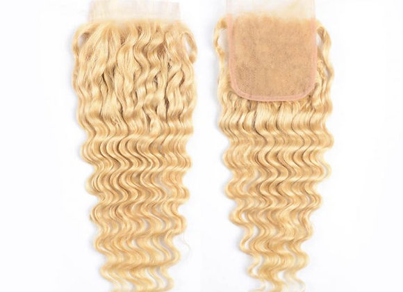 Luxury Lace 4x4 Closure Russian Blonde #613 Deep wave