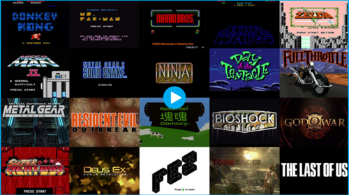 Here's a video of some of gaming history's most iconic title screens
