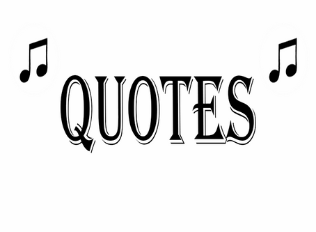 Some fun music quotes