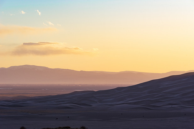 Sunset over the San Luis Valley