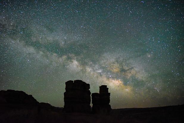 Utah hoodoos under the Milky Way