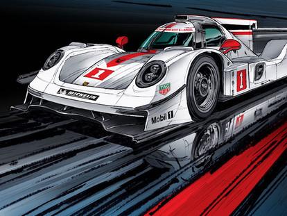 Porsche au Mans