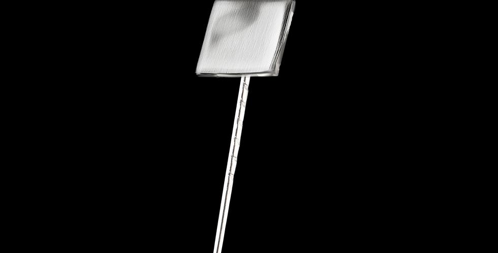 Kavajnål Strömmen, kvadrat i borstat silver