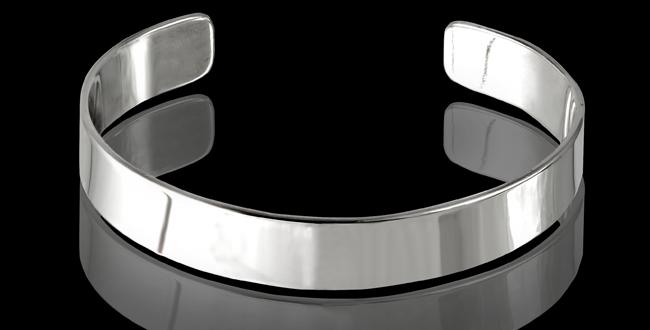 Armband Vaxholm, 12 mm, blankt silver