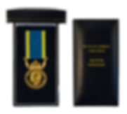 The NOR Medal case with the winner's name