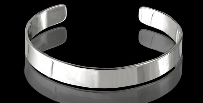 Armband Vaxholm, 10 mm, blankt silver