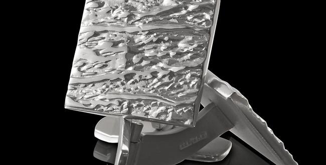 Manschettknappar Hallskär, i kvadratisk form, blankt silver