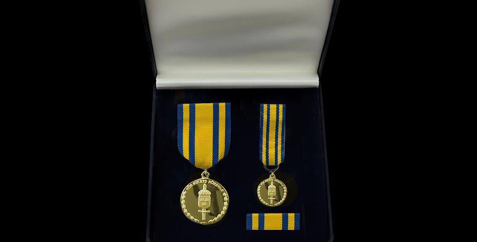 GSS Guld - Försvarsmaktens tjänstgöringsmedalj för rikets försvar