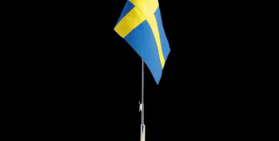 Bordsflagga med graverad fot, Svensk