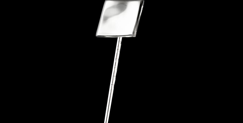 Kavajnål Strömmen, kvadrat i blankt silver