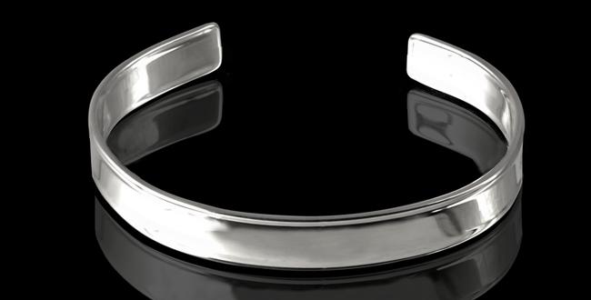 Armband Skansen, 10 mm, blankt silver