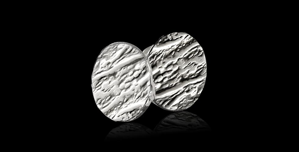 Örhängen Hallskär, rund form, oxiderat silver