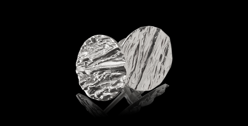 Örhängen, Hallskär, rund form, blankt silver