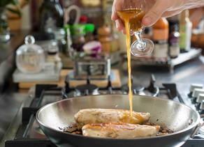 Fried Chicken Breast with Acerola Vinegar Condiment