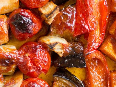 Legumes Assados com Geleia de Goiaba com Pimenta Cumari do Pará