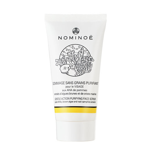 NOMINOË Gentle action purifying face scrub