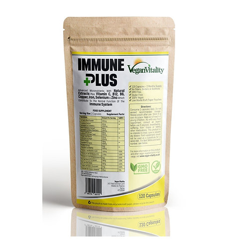 Vegan Vitality Immune Plus - Vitamins For Immune System