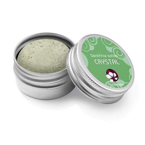 Pachamamaï CRYSTAL solid toothpaste with 2 mints - Metal box