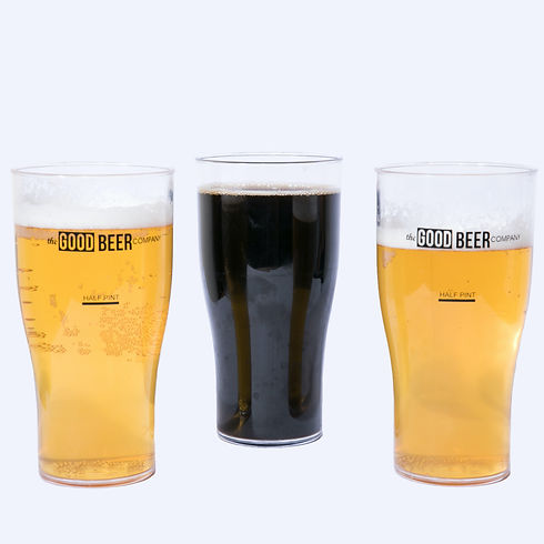 Good Beer Company Beer Glasses - Square.