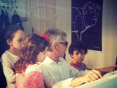 """Pequenos aprendizes nas """"Oficinas - Animação em Família""""!"""