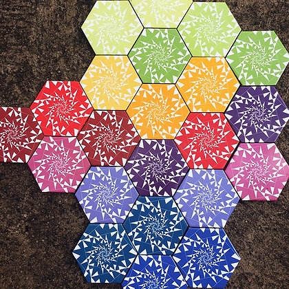 KIT SPIKE COLOURS HEXAGONAL 13,2x15,3x0,8 cm