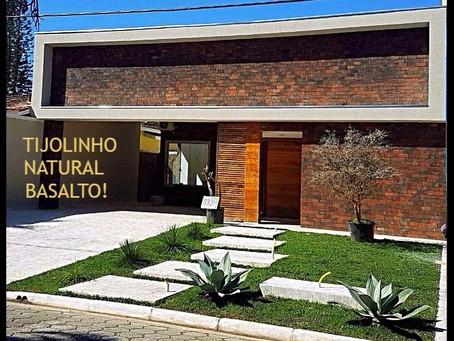 Tijolo Aparente Natural Basalto...lindo para toda a vida!