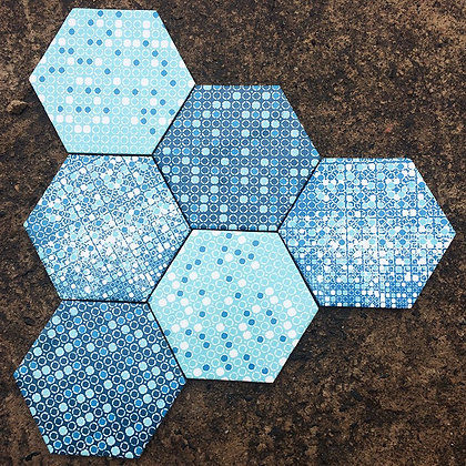 KIT JEANS HEXAGONAL 13,2x15,3x0,8 cm