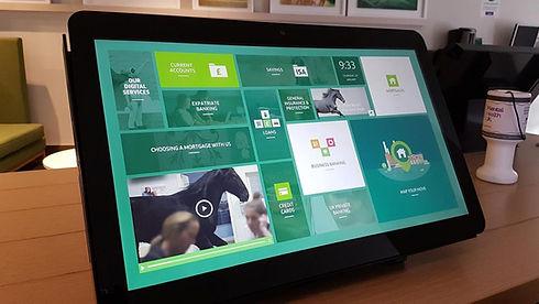 Lloyds Bank touchscreen user interface