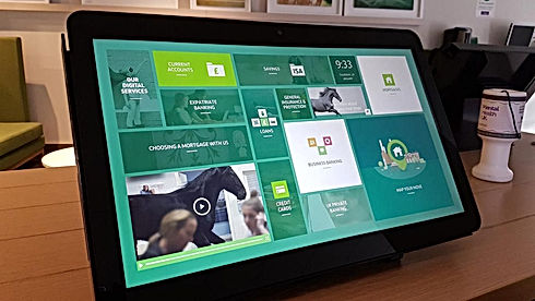 Lloyds Bank touchscreen user interface