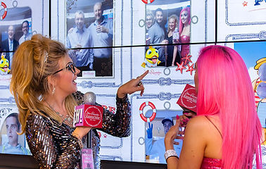 Social media wall and picture Pod for Harry Ramsden launch