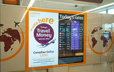 Travel Agents Digital Rateboards - Sainsburys Bank