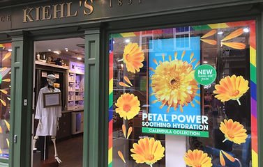 Kiehl's store window display
