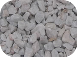 Grava mármol blanco