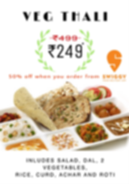 Vegetarian thali.Corporate thali.executive thali near jasola okhla mohan cooperative