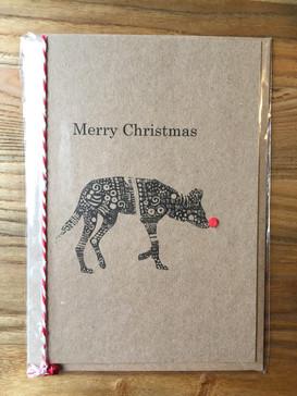 African Wild Dog Christmas Card
