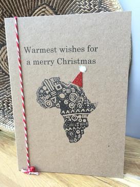 Africa Christmas Card