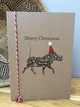 Warthog Christmas Card