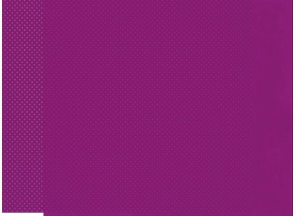 Grape Double Dots 12X12 2-Sided Cardstock Paper BoBunny
