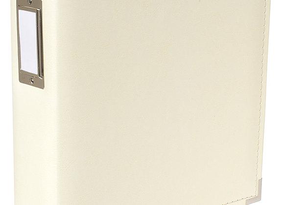 Vanilla Faux Leather 8.5x11 3 Ring Binder Scrapbook Album